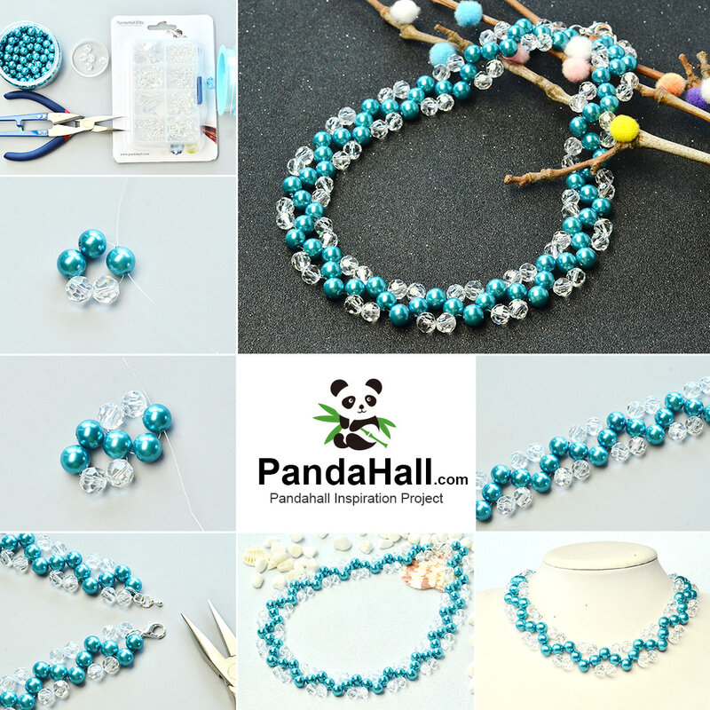 1080-PandaHall-ideas-on-making-Crystal-Blue-Pearl-Necklace