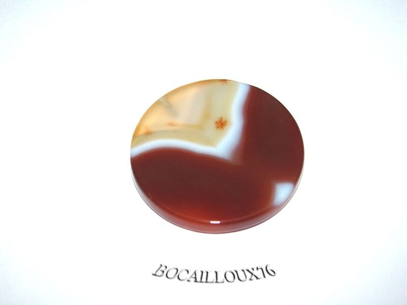 AGATE Orange Disque 4 (2)