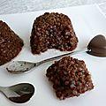 Gâteaux de riz de konjac au cacao cru et au psyllium (sans sucre ni oeufs ni beurre)