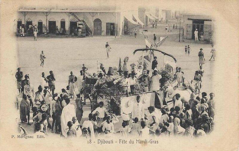 CPA Djibouti Fête Mardi Gras