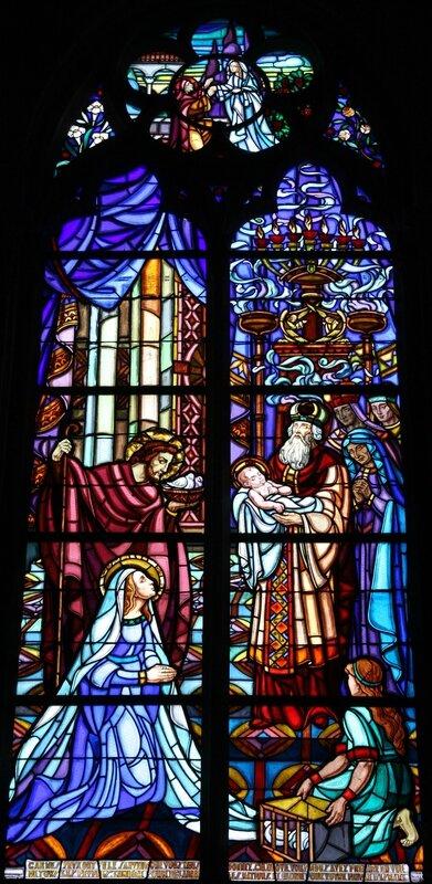 Eglise de Châtillon-sur-Loire, transept nord, la Présentation de Jésus au Temple. (Photo A. Estienne)