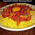 Spaghetti sans gluten aux lardons et tomates semi-sechees (recette maison)