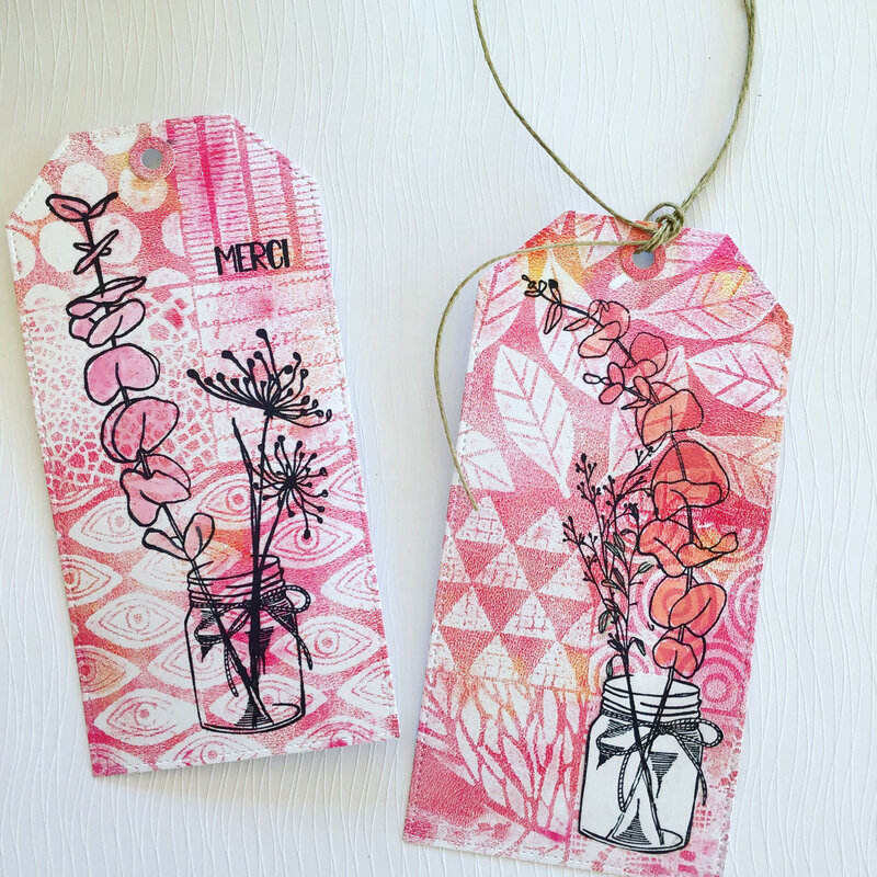 tags bouquet printanier