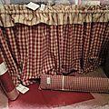 rideau,carpette,coussin de porte Mamie carreaux CdeF