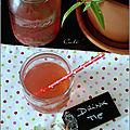 Eau aromatisée framboise & verveine citronnelle