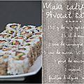 Maki california avocat saumon