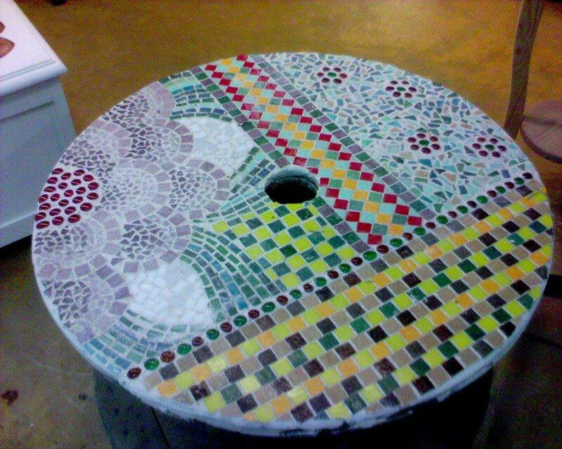 Idees Mosaiques Image : Table de jardin l atelier nadine