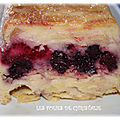 Gâteau léger pommes framboises, mûres