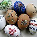 œufs-Pâques-originaux-décorés-fils-broder