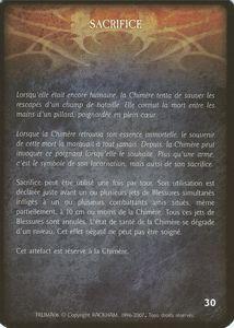La Chimère - Sacrifice (artefact)