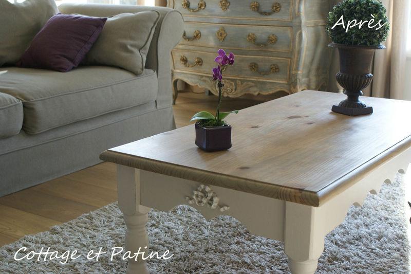 table basse ensemble jpeg photo de les meubles relook s cottage et patine le blog. Black Bedroom Furniture Sets. Home Design Ideas