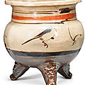 A 'Cizhou' painted tripod censer, Yuan dynasty (1271-1368)