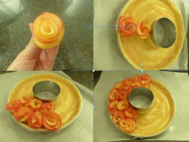 tarte bouquet de roses2