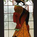 vitrail au plomb (Geisha)