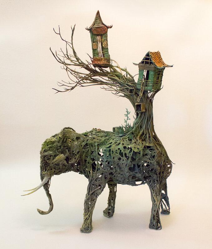 Sculptures-animales-et-végétales-de-Ellen-Jewett-08