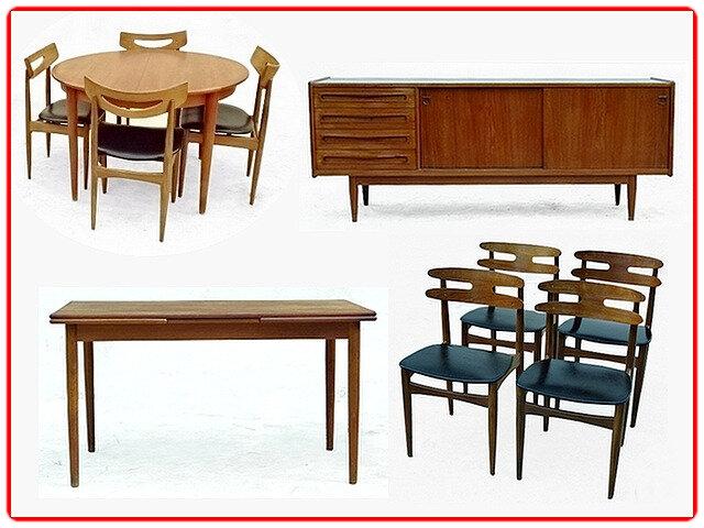 Meubles vintage et scandinaves années 1950, 1960 et 1970.