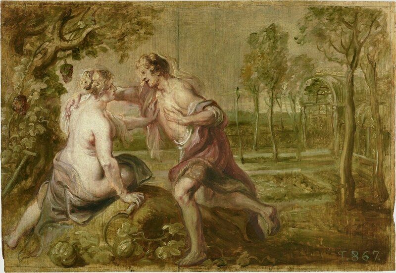 Rubens-&-Jordaens-Jacob-Vertumnus-&-Pomona-cartoon-1636-37-Prado
