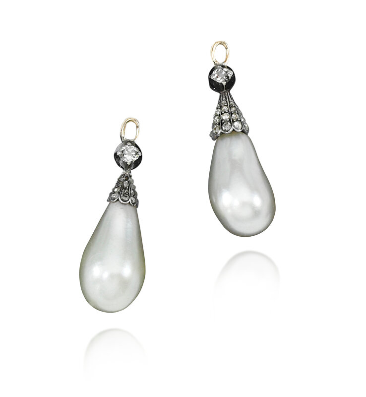 A pair of natural pearl drops - Royal Jewels from the Bourbon Parma Family - Sotheby's November 2018