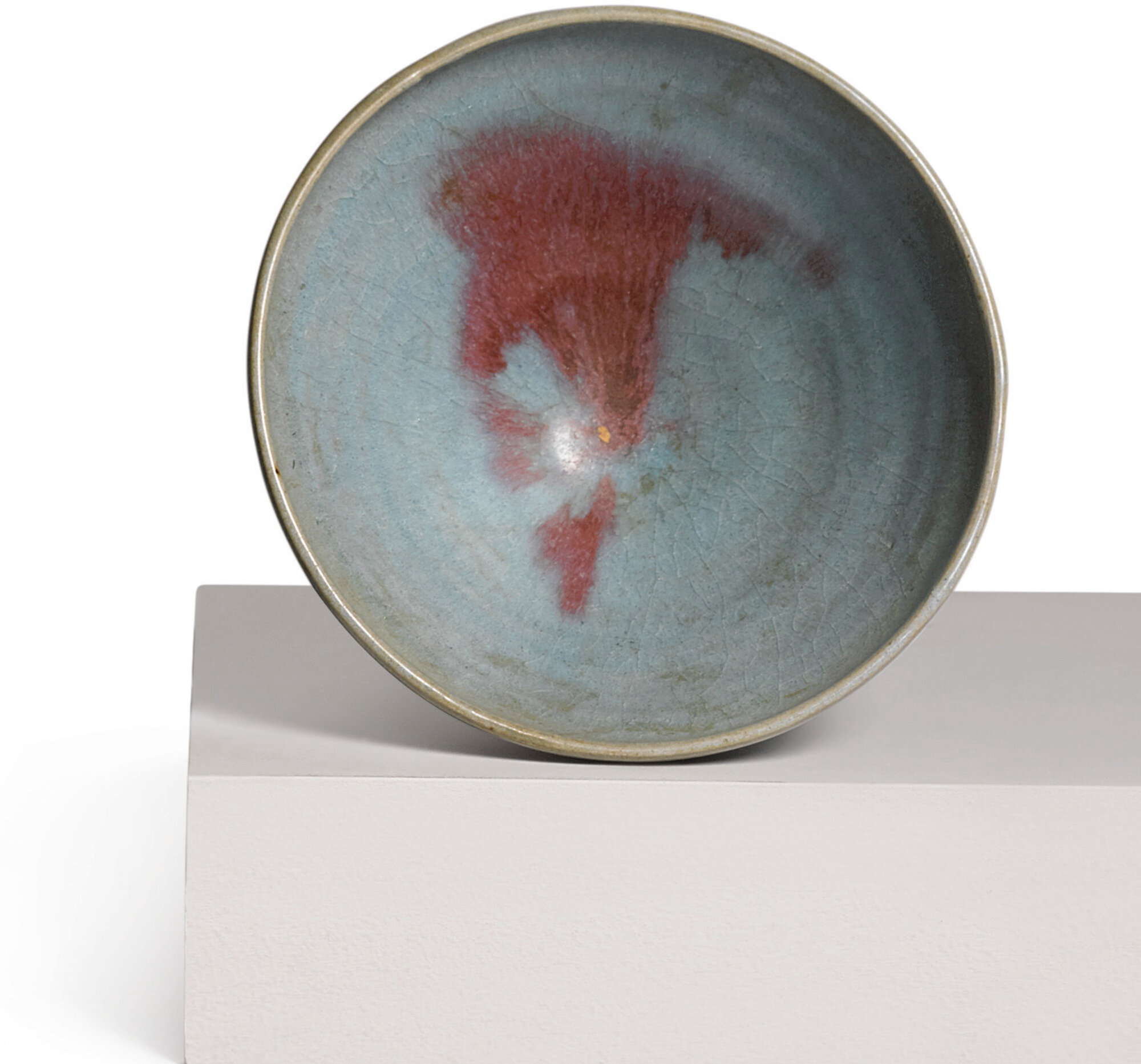 A crimson-splashed 'Jun' bowl, Yuan dynasty (1271-1368)