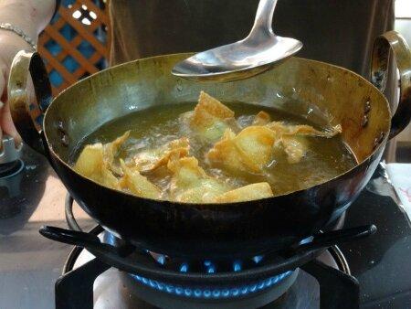 Chaussons poulet crevettes 3