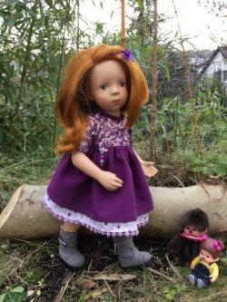 Robe violette pour Minouche , 16 € et 2,70 ,plus disponible
