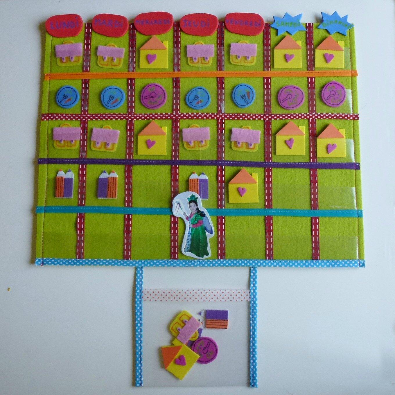 le semainier pour enfant les tutos de mam 39 zelle jeannette. Black Bedroom Furniture Sets. Home Design Ideas
