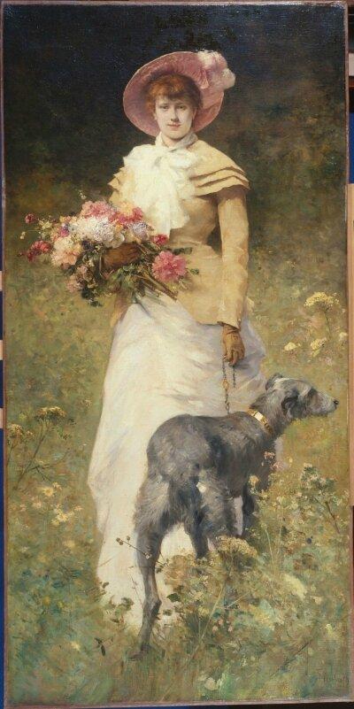 femme au chien ferdinand heilbuth