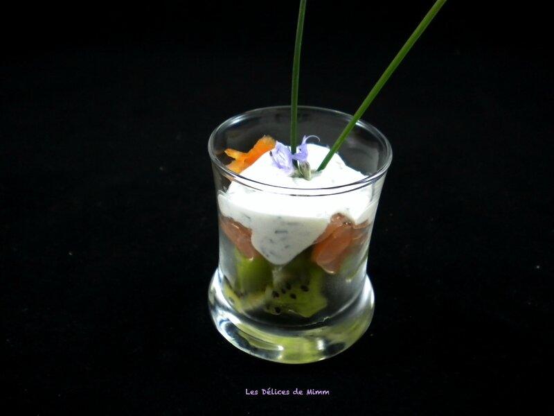 Verrines au saumon fumé et au kiwi 5
