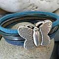 Voici un bracelet cuir printanier ou même estival, je vous laisse juger