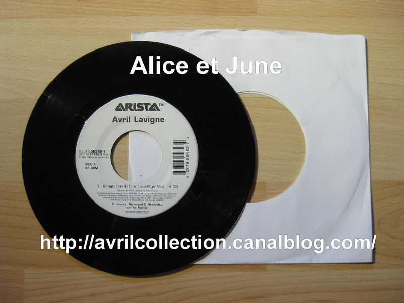 Vinyle Arista Avril Lavigne-Complicated (2002-2003)