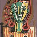 Pablo picasso: le corsage rayé, 1949