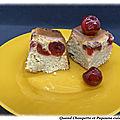 Gâteau a la confiture de rhubarbe et cerises confites au tm ou pas ...