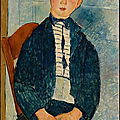 Modigliani > boy in a striped sweater