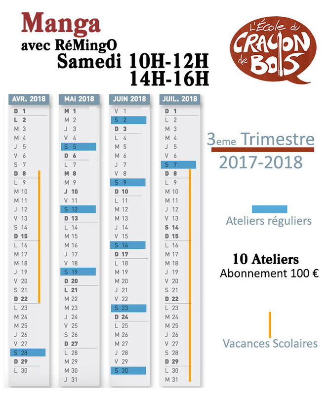 Calendrier Remingo 3 tri sam 2017-2018