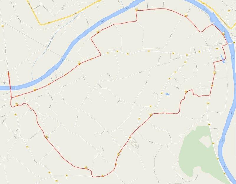 Parcours puy l'eveque vire 14km