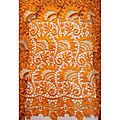 Dentelle guipure - orange - 5 yards