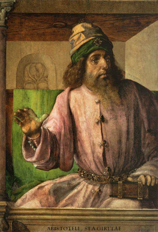1476 JUSTE DE GAND : Aristote, tableau destiné au studiolo d'Urbino