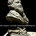 Fu - artist sculptor - création - art - sculpture -clay - bust - portrait - Balzac - Tours - France -june 2018