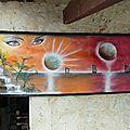 hamac 2m x 80 cm pour exposition été 2013 à Valence d'Agen