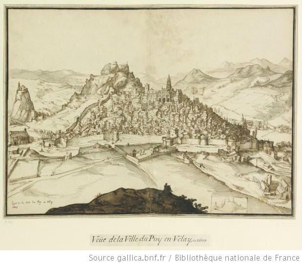 Gravure d'Etienne Martellange Le PUY 1607