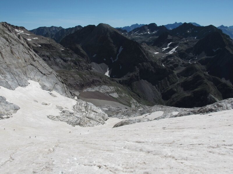 Glacier d'Ossoue, descente