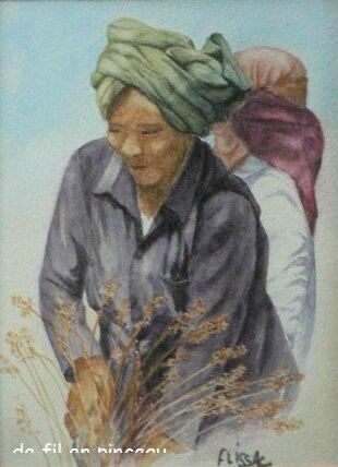 la cueilleuse de riz