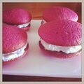 Mes whoopies pies framboise, vanille bourbon!