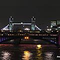Tower Bridge dans la nuit (Londres, février 2020)