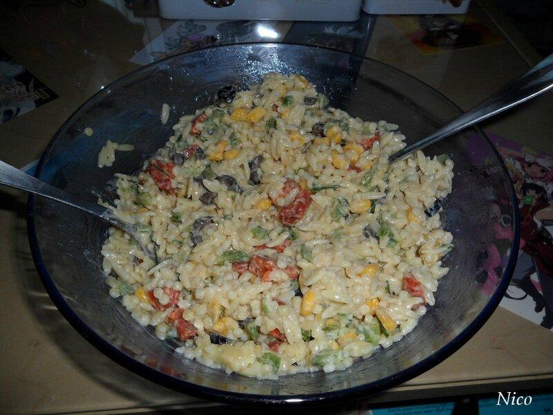 Salade de pâtes par nico - 2 juillet 2016