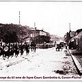 Le 57eme régiment d'infanterie au cours gambetta