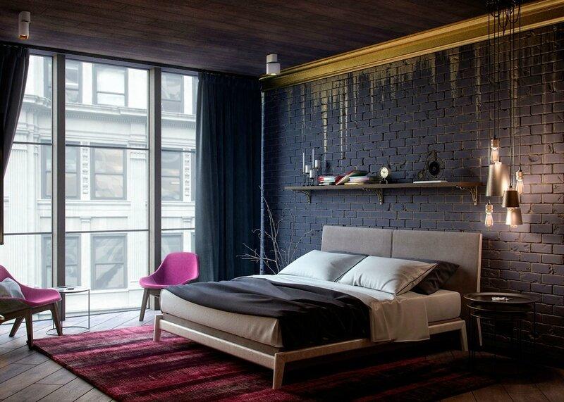 black-gold-bedroom