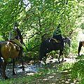 balade equestre gastronomique à La Lucerne d'Outremer (74)