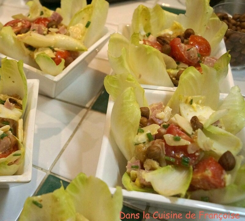 Salade d'Endive Jambon de Paris Fromage de Brebis