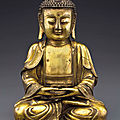 A gilt-bronze figure of buddha, ming dynasty, 16th-17th century